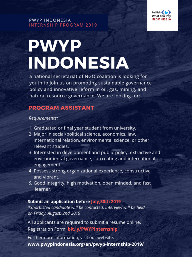 PWYP Internship 2019 - PWYP Indonesia